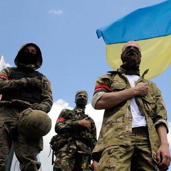 Пикет у здания администрации президента Украины в Киеве