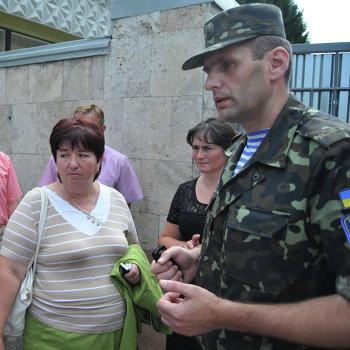 Пикет во Львове родителей и родственников военнослужащих, участвующих в спецоперации на востоке Украины