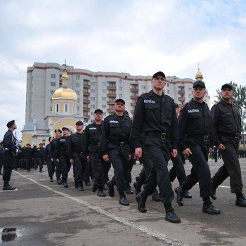 Празднование 90-летия воинской части во Львове