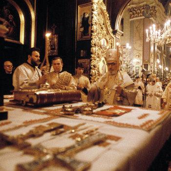 Рождественская служба в греко-католической церкви во Львове