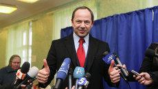 Сергей Тигипко голосует на президентских выборах в Киеве