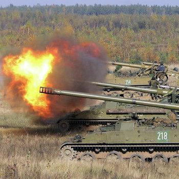 Боевые стрельбы из установок 2С5 «Гиацинт»