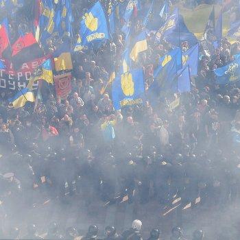 Столкновения у Верховной рады в Киеве