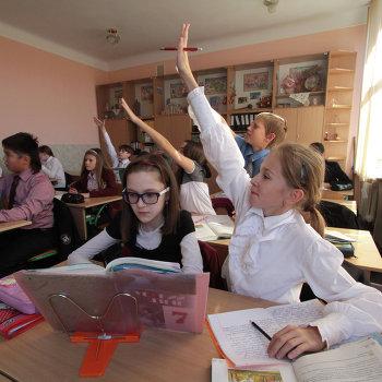 Обучение русскому языку в одной из школ Киева