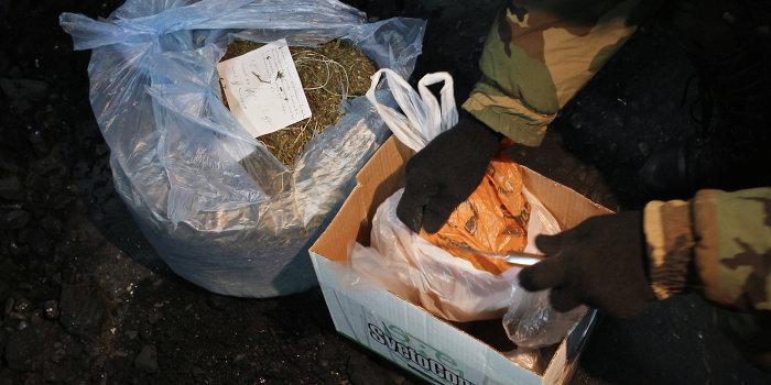 Уничтожение крупной партии наркотиков в Томске