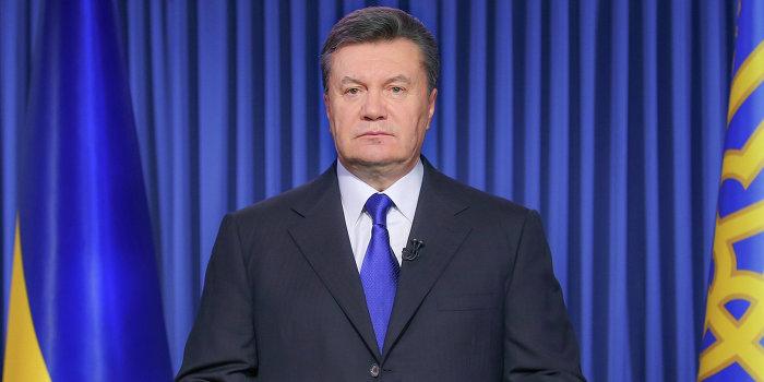 Президент Украины В.Янукович выступил с обращением