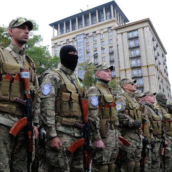 Отправка добровольческого батальона Сич в зону вооруженного конфликта