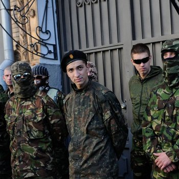 Митинг представителей добровольческих батальонов в Киеве