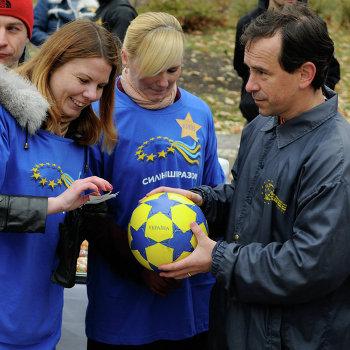 Акция Украина принимает европейскую эстафету в Киеве