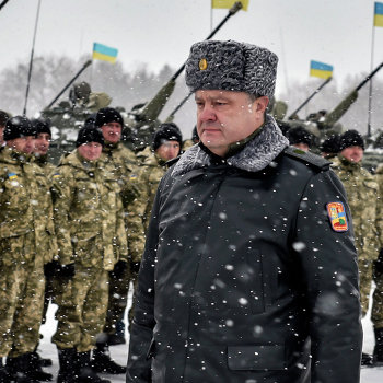 Рабочая поездка президента Украины П.Порошенко в Житомирскую область