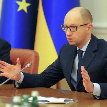 Встреча А.Яценюка с Вернером Хойером