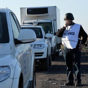 Эксперты ОБСЕ осматривают место крушения малазийского самолета