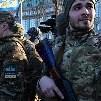 Отправка батальона Сич на юго-восток Украины