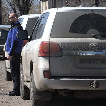 Представители ОБСЕ посетили поселок Спартак в Донецкой области