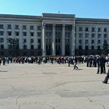 Дом профсоюзов на Куликовом поле в Одессе