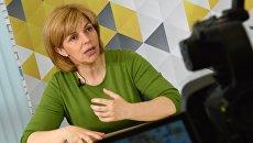 Пресс-конференция кандидатов в президенты Украины О.Богомолец и А.Клименко
