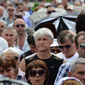 Митинг против проведения выборов президента Украины в Донецке