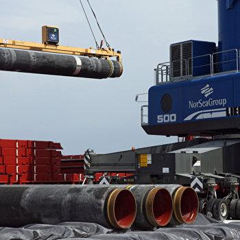 Cтроительство газопровода Северный поток (Nord Stream)