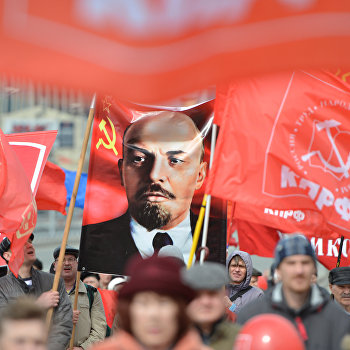 Первомайская демонстрация в Новосибирске