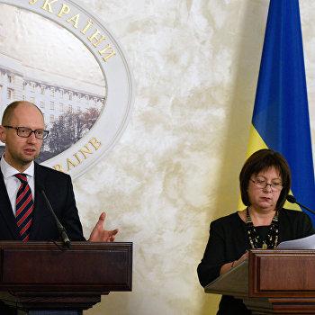 Встреча премьер-министра Украины А. Яценюка с министром финансов США Д. Лью