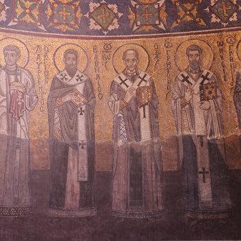 Фрагмент мозаики в алтаре Святительский чин