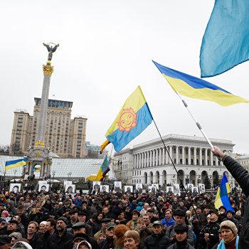 Годовщина оранжевой революции в Киеве