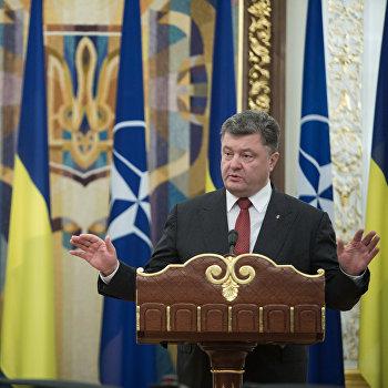 Пресс-конференция президента Украины П.Порошенко и генсека НАТО в Киеве