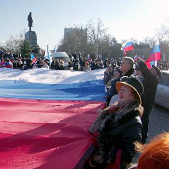 Митинг движения Антимайдан в Крыму