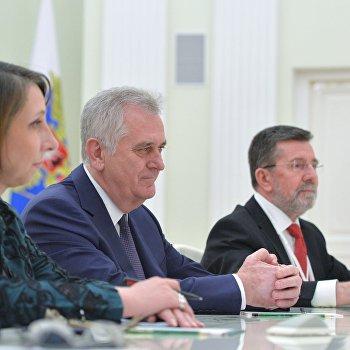 Президент РФ В. Путин встретился с президентом Сербии Т. Николичем