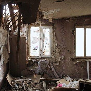 Последствия обстрела Макеевки в Донецкой области