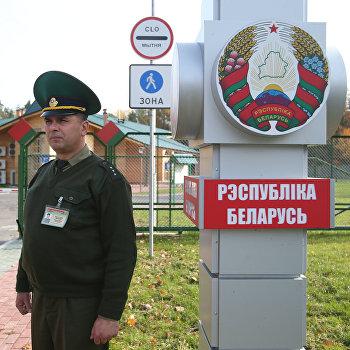 Пограничный пешеходно-велосипедный переход между Белоруссией и Польшей Переров