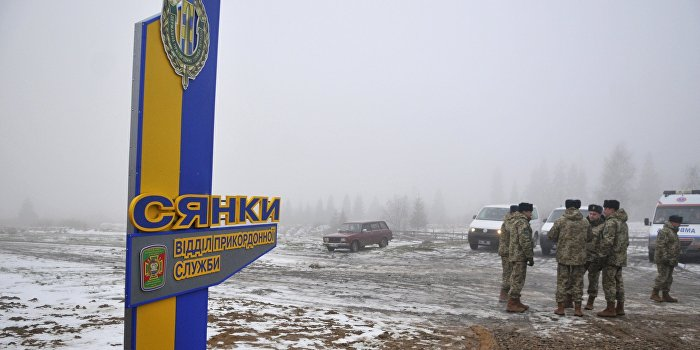Украинская пограничная застава Сянки в Львовской области