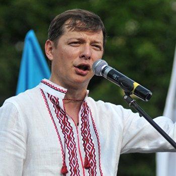 Кандидат в президенты Украины Олег Ляшко встретился с избирателями во Львове
