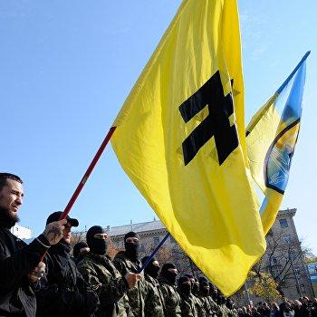 Отправка курсантов полка Азов в зону конфликта на юго-востоке Украины.