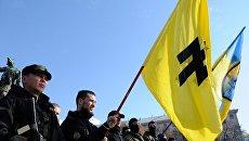 """Отправка курсантов полка """"Азов"""" в зону конфликта на юго-востоке Украины."""