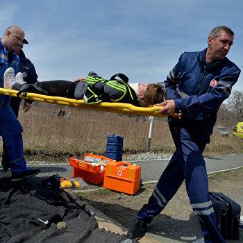 Тактико-специальные учения Ликвидация медицинских последствий ДТП в Приморском крае