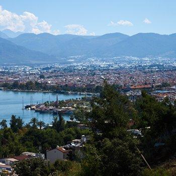 Город-курорт Фетхие в Турции