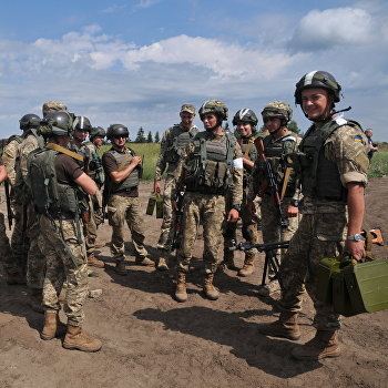 Активная фаза учений Rapid Trident на Украине