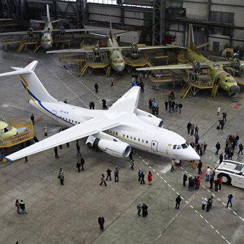 Первый экспериментальный образец украинского реактивного самолета нового поколения АН-158