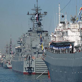 Генеральная репетиция военно-морского парада в Севастополе