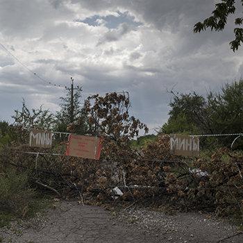 Школа, ставшая убежищем для жителей Горловки