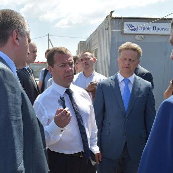 Рабочая поездка премьер-министра РФ Д. Медведева в Крымский федеральный округ