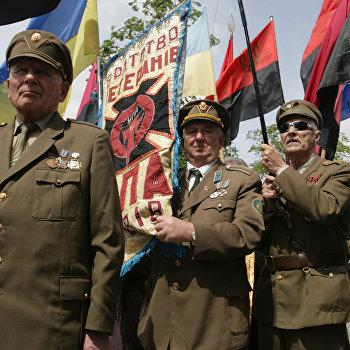 Ветераны Украинской Повстанческой Армии (УПА) отпраздновали День Героев во Львове
