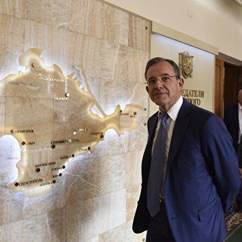 Прибытие французской парламентской делегации в Симферополь