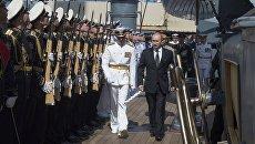 Путин принял участие в параде в честь Дня ВМФ