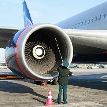 Проверка на радиацию самолетов и багажа в аэропорту Шереметьево