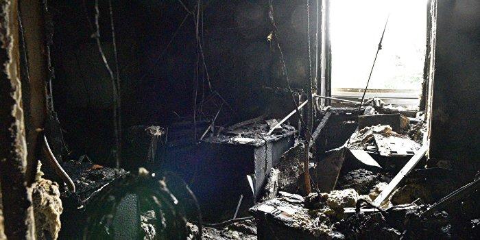 """Последствия пожара в здании телеканала """"Интер"""" в Киеве"""