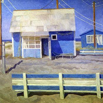 Репродукция картины У синего моря художницы Татьяны Яблонской