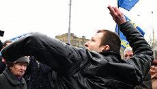 Выборы в Госдуму: «Свободовцы» избили россиянина в Киеве
