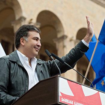 Митинг партии М.Саакашвили Единое нацдвижение в центре Тбилиси